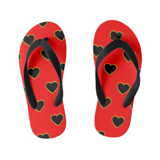 Black Hearts on a Red Background Love and Romance Thongs
