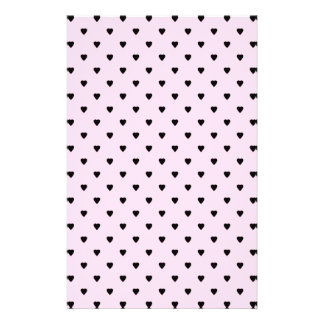 Black Hearts on Pretty Pink. 14 Cm X 21.5 Cm Flyer