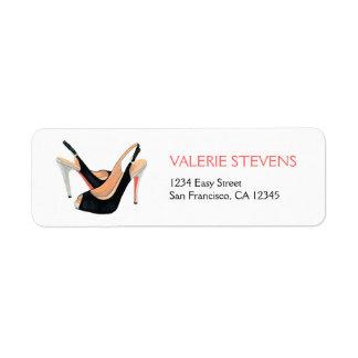 Black Heels Address Label