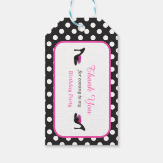 Black Heels Shoes with Black Polka Dots Gift Tag