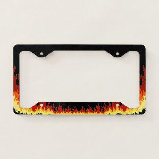 Black Hellfire Licence Plate Frame