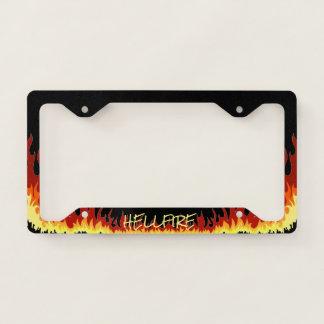 Black Hellfire Text Licence Plate Frame