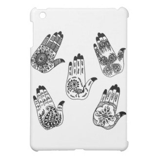 Black Henna Tattoo Hands Case For The iPad Mini