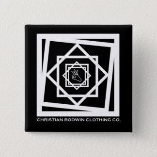 Black Hex 15 Cm Square Badge