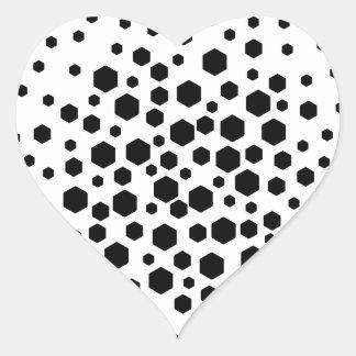 Black Hexagons. Stickers