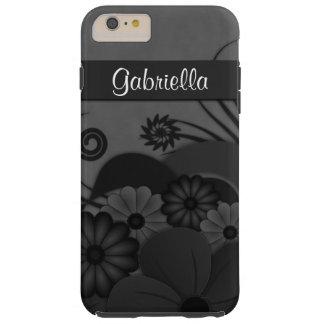 Black Hibiscus Floral Gothic iPhone 6 6S Plus Case