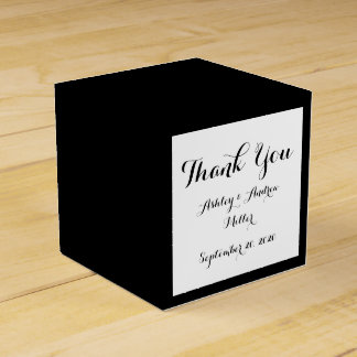Black High End Colored Favour Box