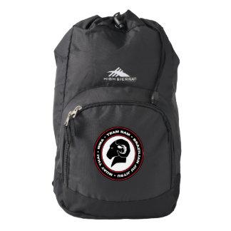 Black High Sierra RAM Backpack, Black and Red Logo Backpack