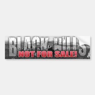Black Hills Not For Sale Bumper Sticker