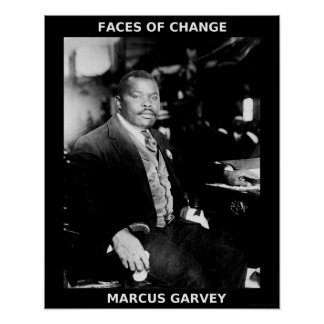 Black History Month Heroes - Marcus Garvey Poster
