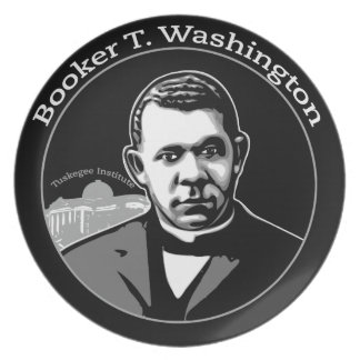Black History Plates-Booker T. Washington Plate