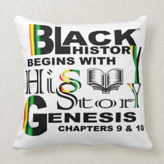 Black History Poem Sqauare Pillow