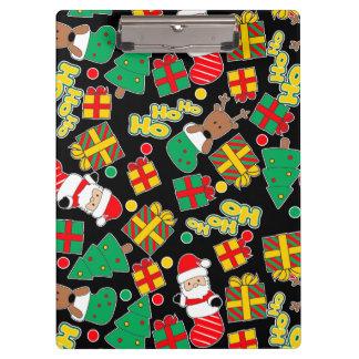 Black - Ho Ho Santa Clipboard