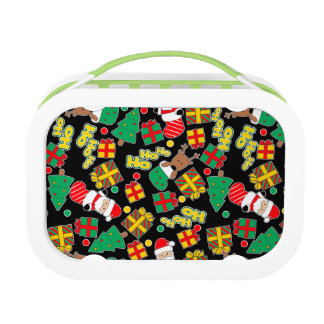 Black - Ho Ho Santa Lunch Box