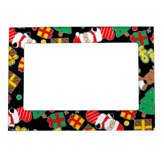 Black - Ho Ho Santa Magnetic Picture Frame