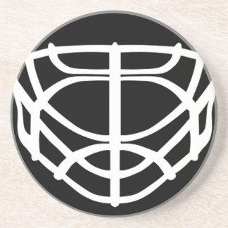 Black Hockey Mask Coaster