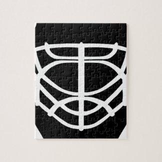 Black Hockey Mask Jigsaw Puzzle