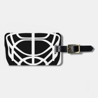 Black Hockey Mask Luggage Tag