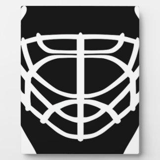 Black Hockey Mask Plaque