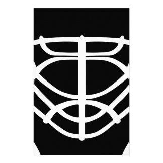 Black Hockey Mask Stationery