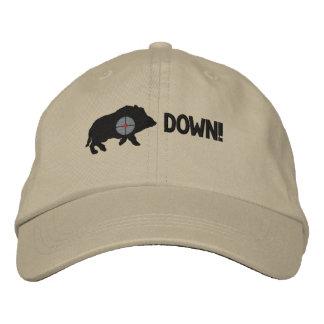 Black Hog Down! Embroidered Hat
