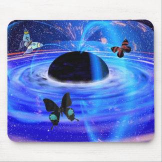 Black Hole & Butterflies Mouse Pad