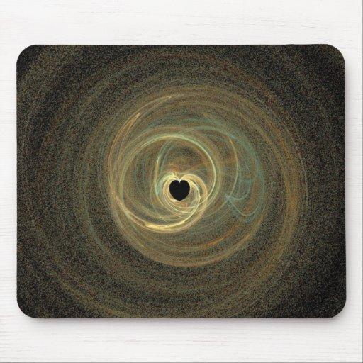 Black Hole Heart Mousepads