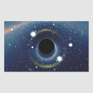Black hole in front of the Large Magellanic Cloud Rectangular Sticker