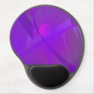 Black Hole Purple Digital Abstract Art Gel Mouse Pad