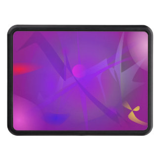 Black Hole Purple Digital Abstract Art Hitch Covers