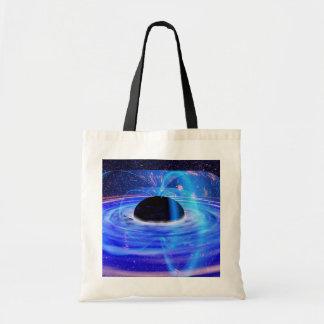 Black Hole Shopper Canvas Bag