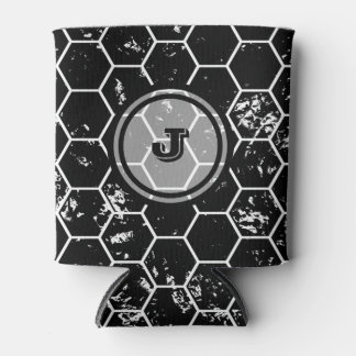 Black Honeycomb Geometric Monogram