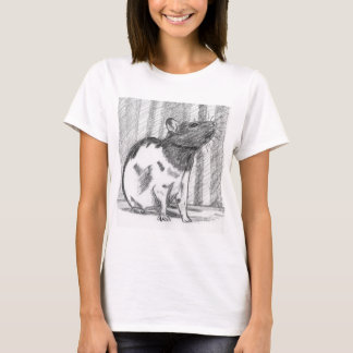 Black Hooded Fancy Rat T-Shirt