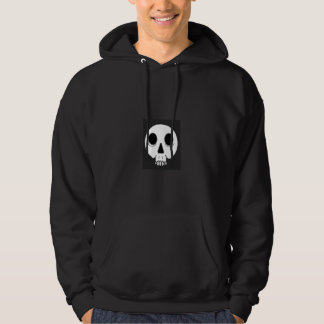 black hooded sweatshirt for men with skull design