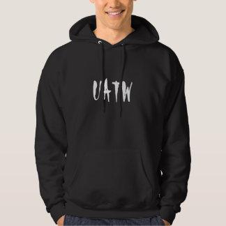 Black Hooded Sweatshirt White UATW Logo on front