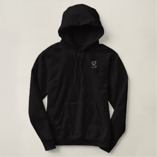 Black Hoodie w Grey Embroidered I'm G Logo