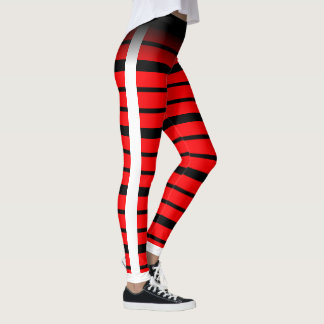 Black Horizontal Striped Choose Your Own Color Leggings