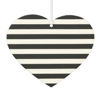Black Horizontal Stripes Car Air Freshener