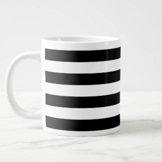 Black Horizontal Stripes Giant Coffee Mug