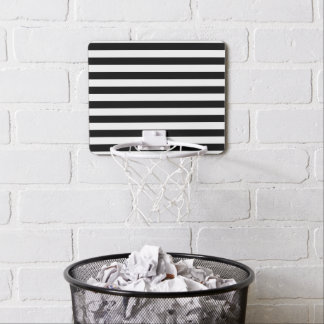 Black Horizontal Stripes Mini Basketball Hoop
