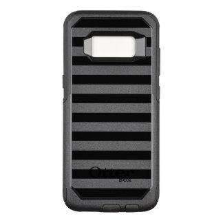 Black Horizontal Stripes OtterBox Commuter Samsung Galaxy S8 Case