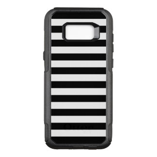 Black Horizontal Stripes OtterBox Commuter Samsung Galaxy S8+ Case