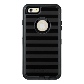 Black Horizontal Stripes OtterBox Defender iPhone Case
