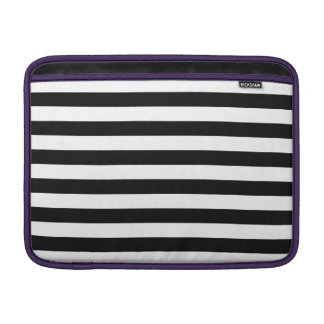 Black Horizontal Stripes Sleeve For MacBook Air