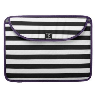 Black Horizontal Stripes Sleeve For MacBook Pro