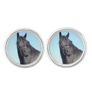 Black Horse And The Blue Sky Cuff Links