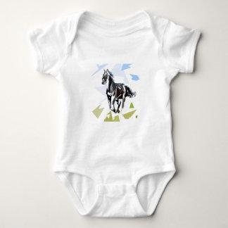 Black horse baby bodysuit