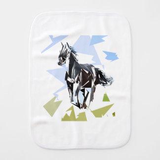 Black horse burp cloth