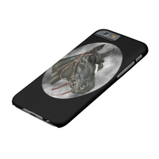 Black Horse Equine Art Portrait Print Barely There iPhone 6 Case