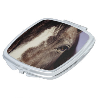 Black Horse Face with Eye Compact Mirror